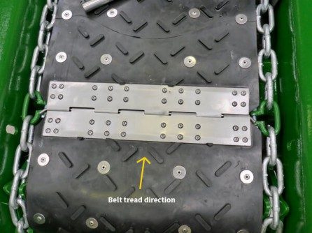 Belt tread direction How to 1